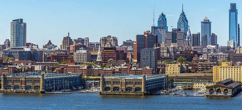 A panoramic view of Philadelphia