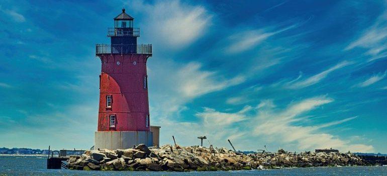 Lighthouse in Delaware.