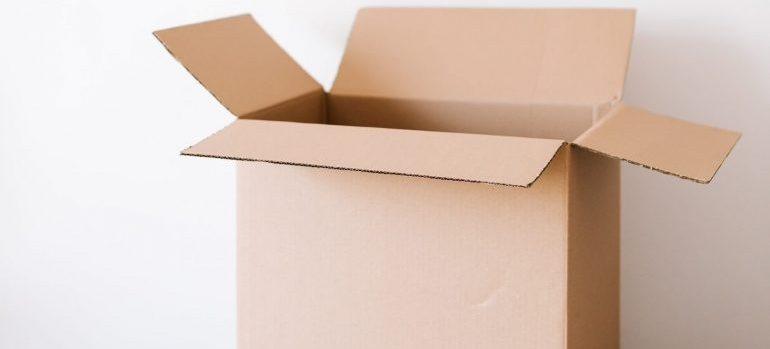 Pack and move books in cardboard boxes