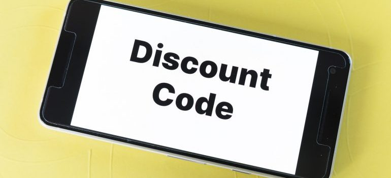 discount coupon on a phone