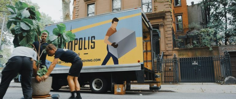 A moving company working