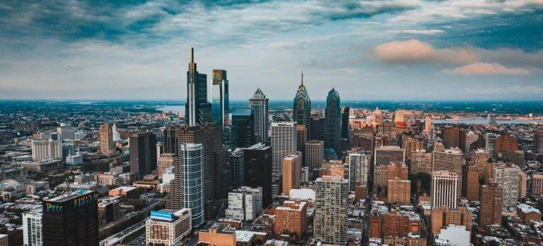 Skyscrapers in Philadelphia.